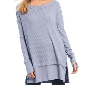 BRAND NEW grey Free People tunic sweater
